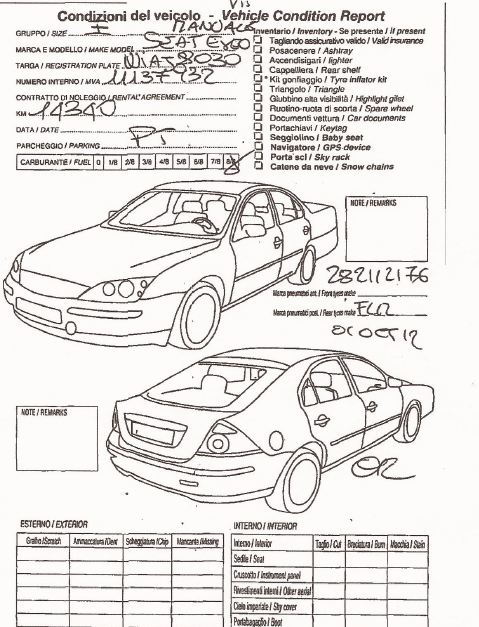 car rental damage inspection form image result for vehicle damage inspection form template car