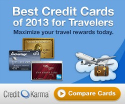 Credit Karma 2013 Best Travel Cards