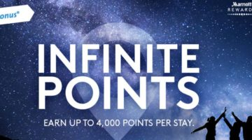 Marriott Megabonus Promotion Summer 2017 – Infinite Points