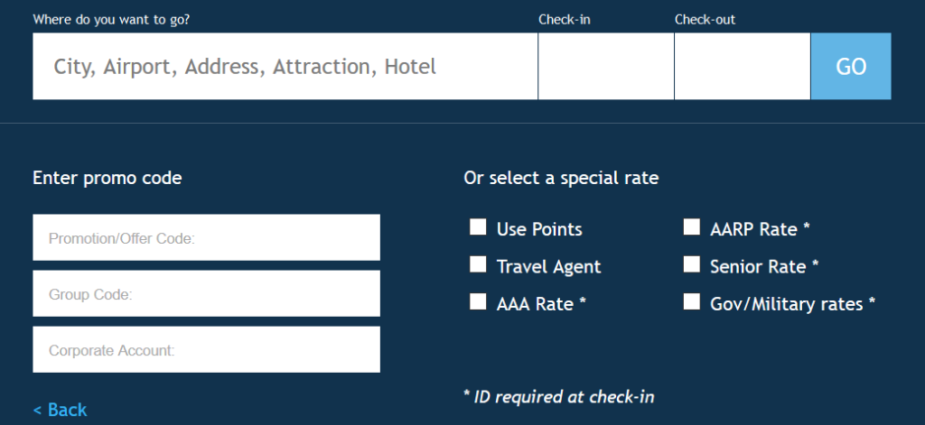 where to enter to hilton MVP Rate Code