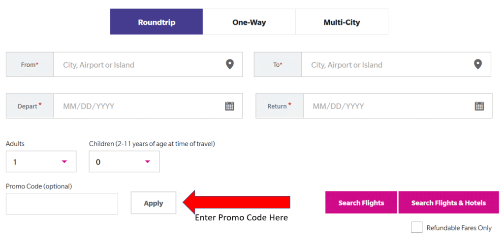 how to apply hawaiian airlines promo code