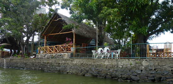 Home on one of the many islands of Lake Nicaragua