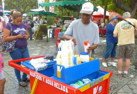 Shave Ice... Nicaraguan Style. It had a very thick fruit syrup