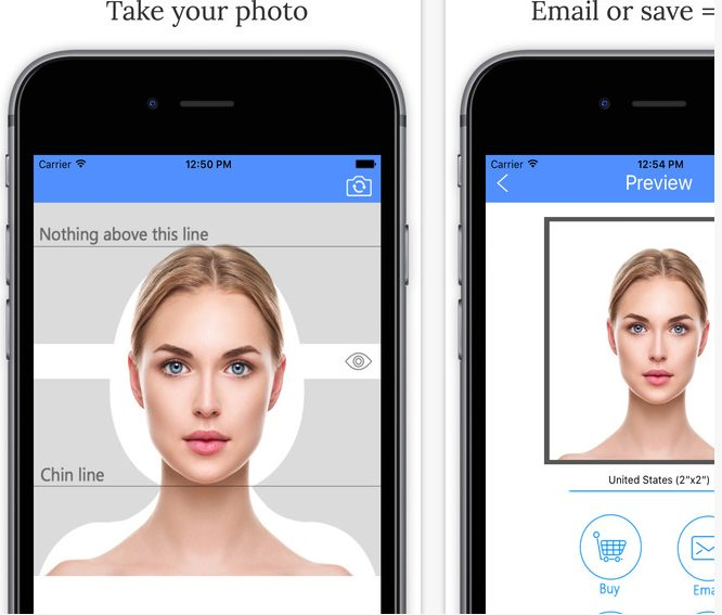 passport photo app for iphone and android