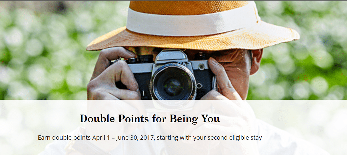 "Hyatt Spring 2017 Promotion: ""Double Points for Being You"""