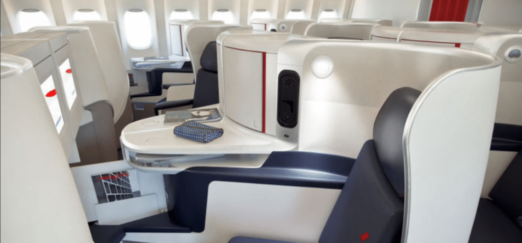 A flying blue promo code can get you a nice business class seat