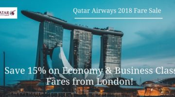 Qatar Airways Launches 2018 Sale on flights from London