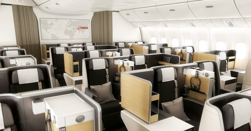 swiss air business class seats