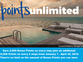 "Hilton Honors Q1 2018 Promotion - ""Points Unlimited"" 1"