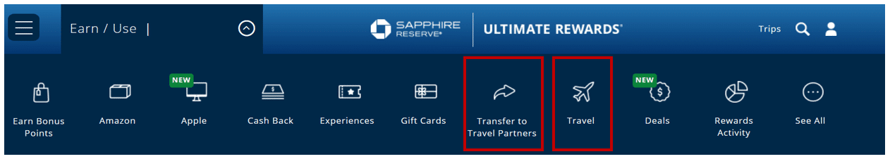Chase Ultimate Rewards Travel Redemption