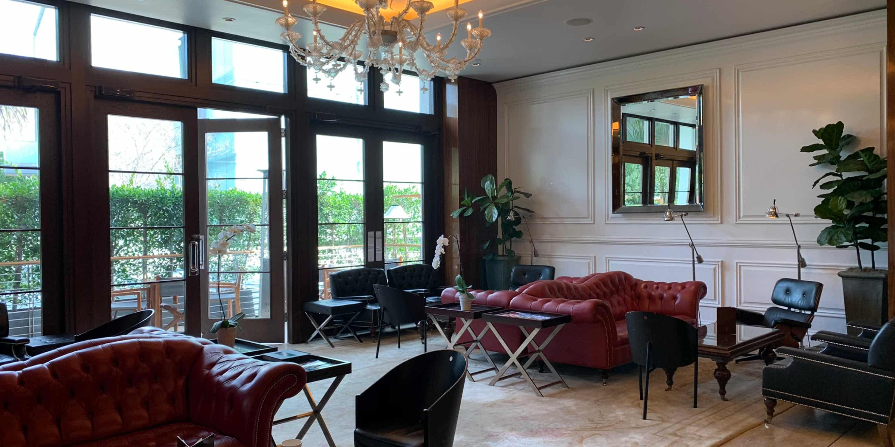 The lobby at Mr. C Beverly Hills