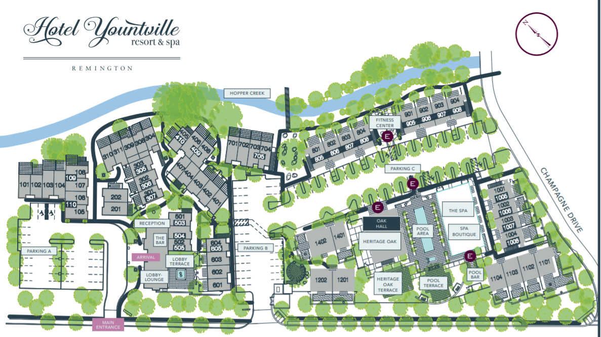 Hotel Yountville Property Map