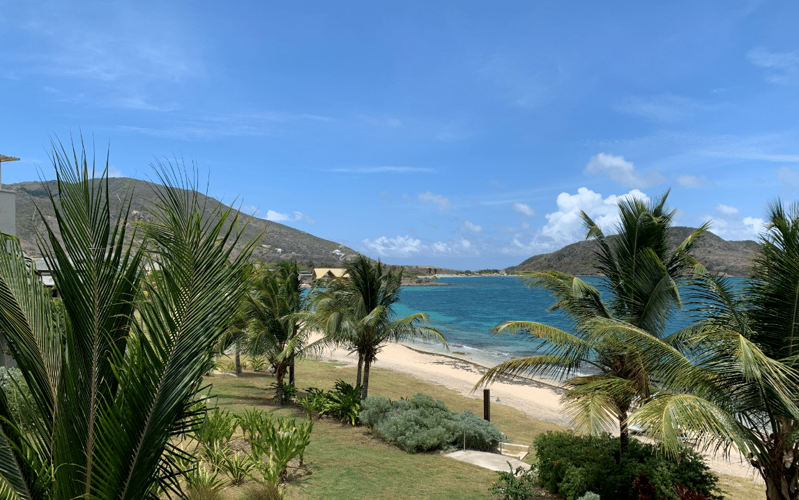 View of banana bay from balcony of Room 111 st kitts