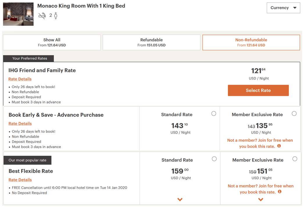 IHG Friends and Family Rate
