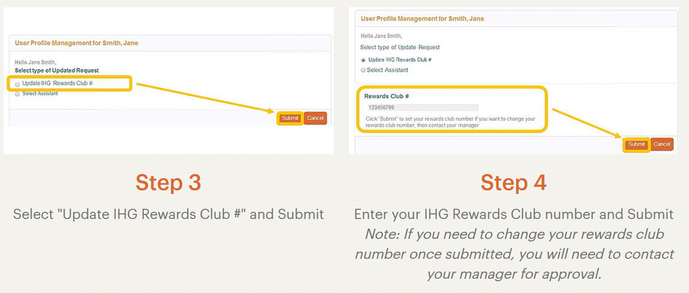 IHG Merlin link IHG Rewards step 2