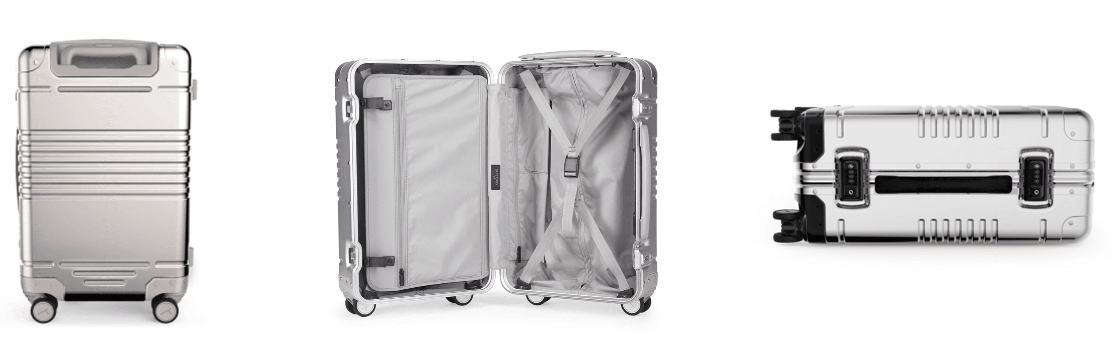 best aluminum carry on bag - without zipper