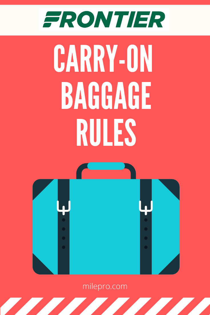 Frontier Airlines Carry on rules