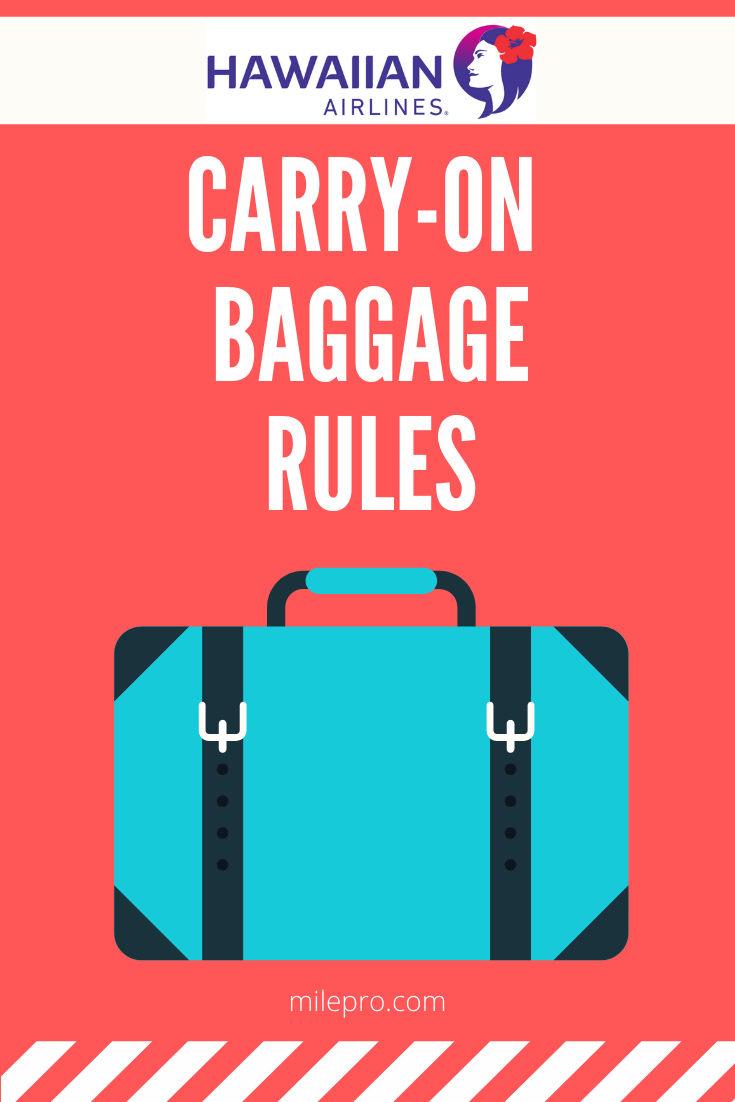 Hawaiian Airlines Carry on rules
