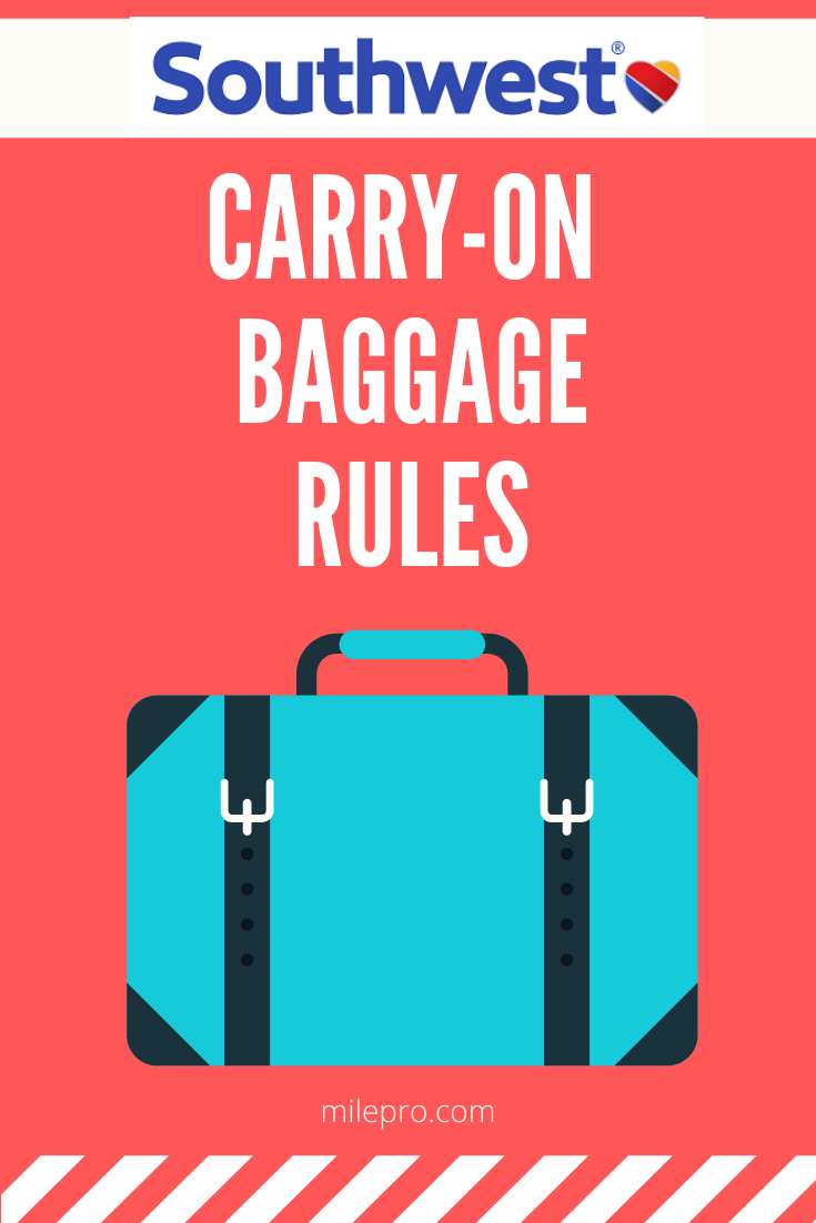 Southwest Airlines Carry On Rules