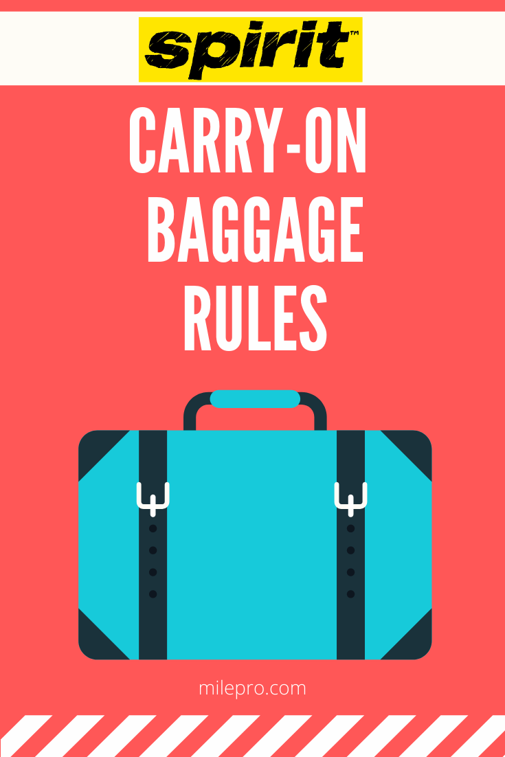 Spirit Airlines Carry On Rules