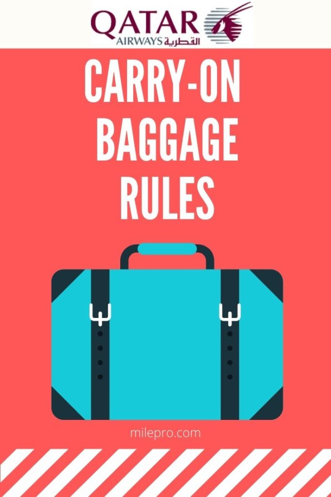 Qatar Airways Carry On Baggage and Personal Items
