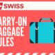 SWISS Air Carry On Rules 1
