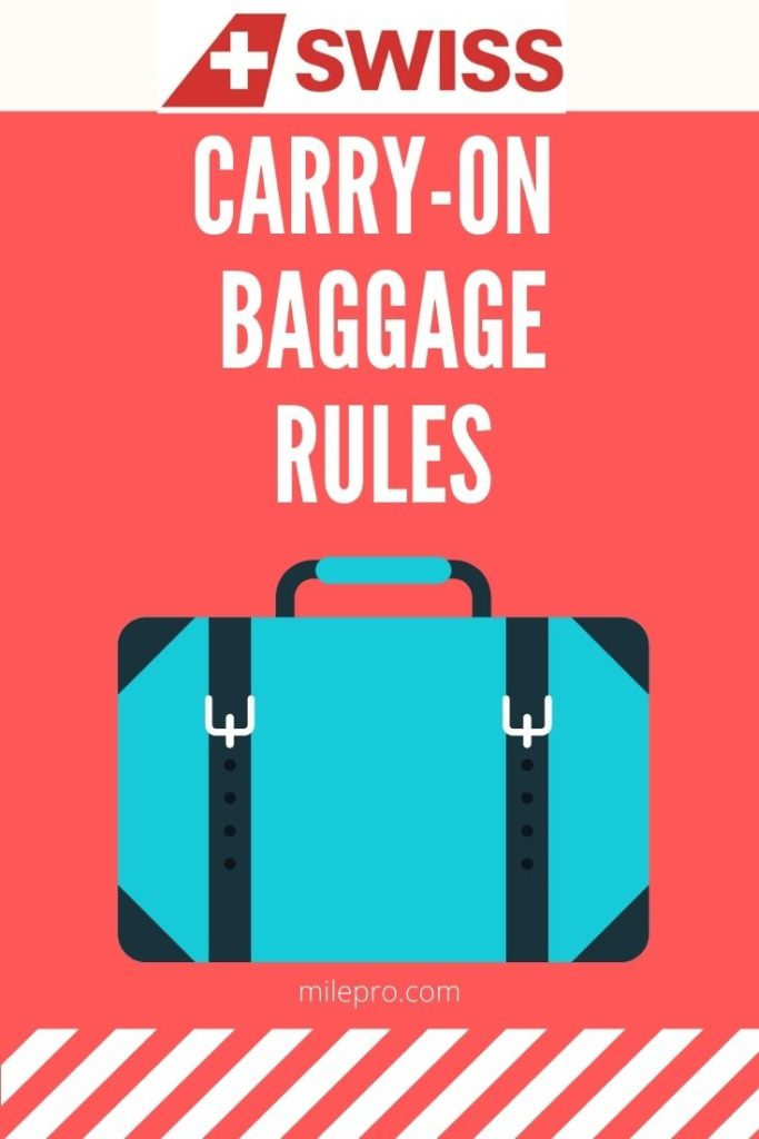 SWISS Air Carry on Baggage