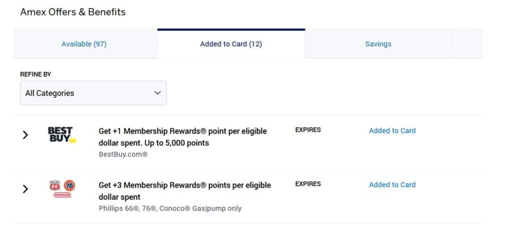 Use Amex Offers to earn more membership rewards points