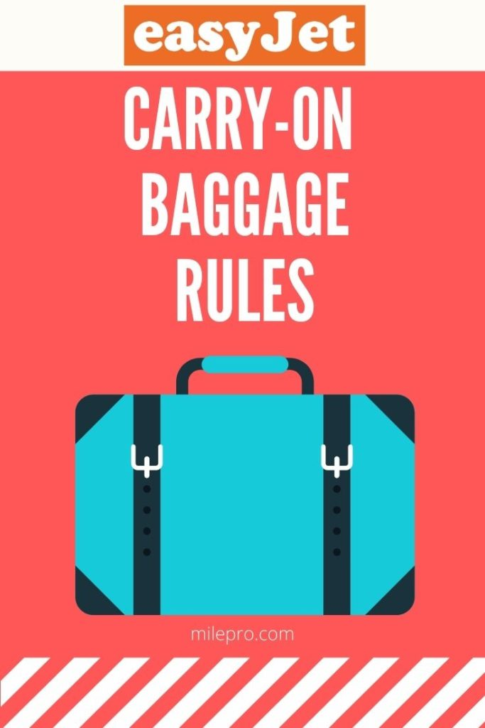 easyJet Carry On Baggage Rules