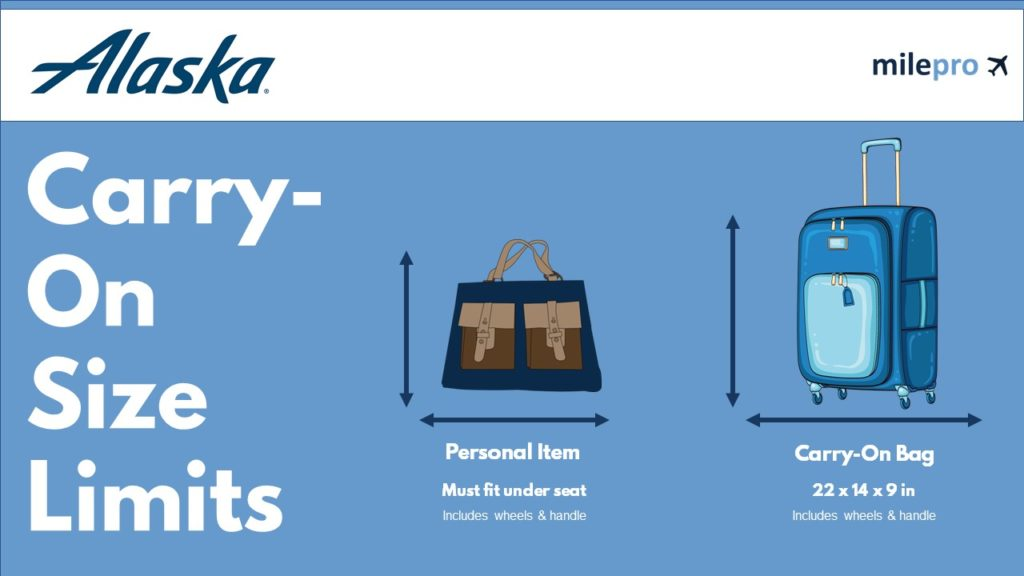 Alaska Airlines Carry-On Size Limit and Personal Item Size