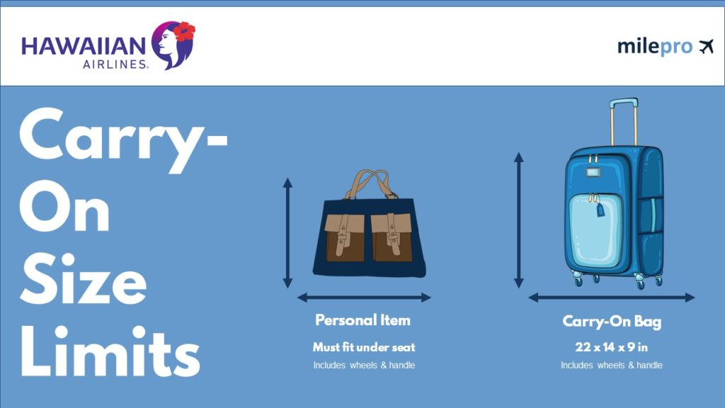 Hawaiian Airlines Carry-On Size Limit and Personal Item Size