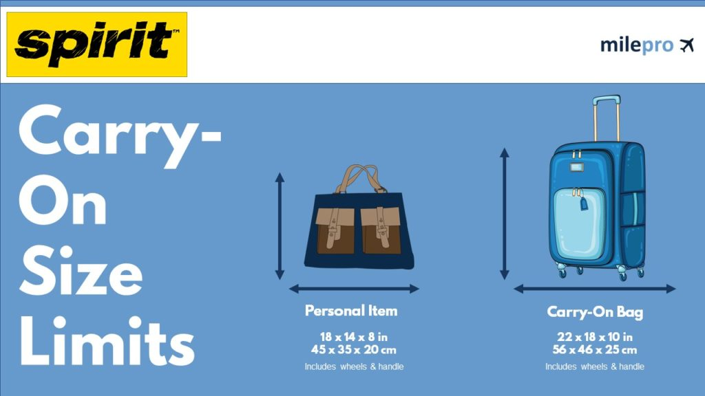 Spirit Airlines Carry-On Size Limit