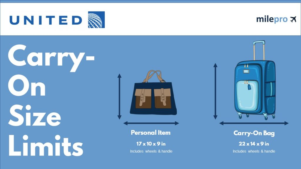 United Airlines Carry-On Size Limit and Personal Item Size