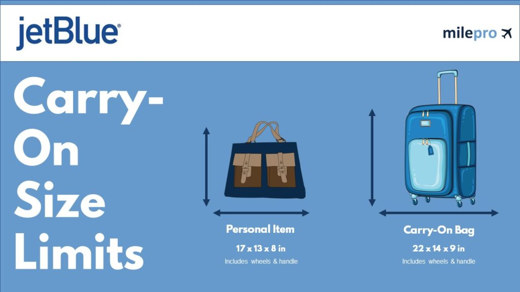 jetblue Carry-On Size and Personal item size