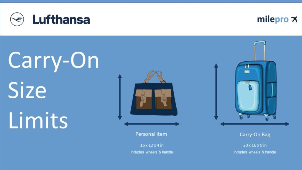 lufthansa carry on size and personal item size