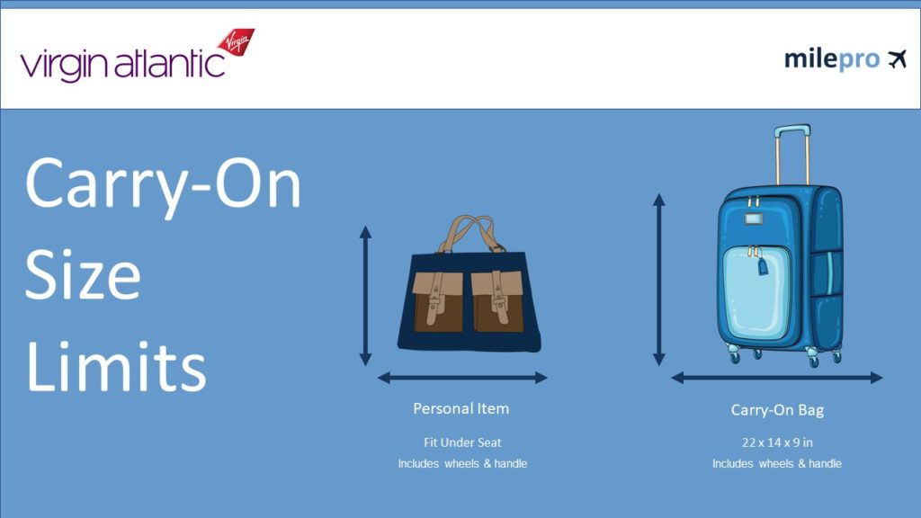 Virgin Atlantic Carry on size and personal item limits