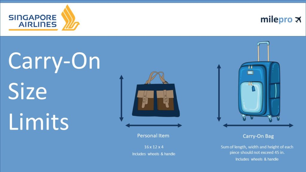 Singapore Airlines Carry-On Size Limits