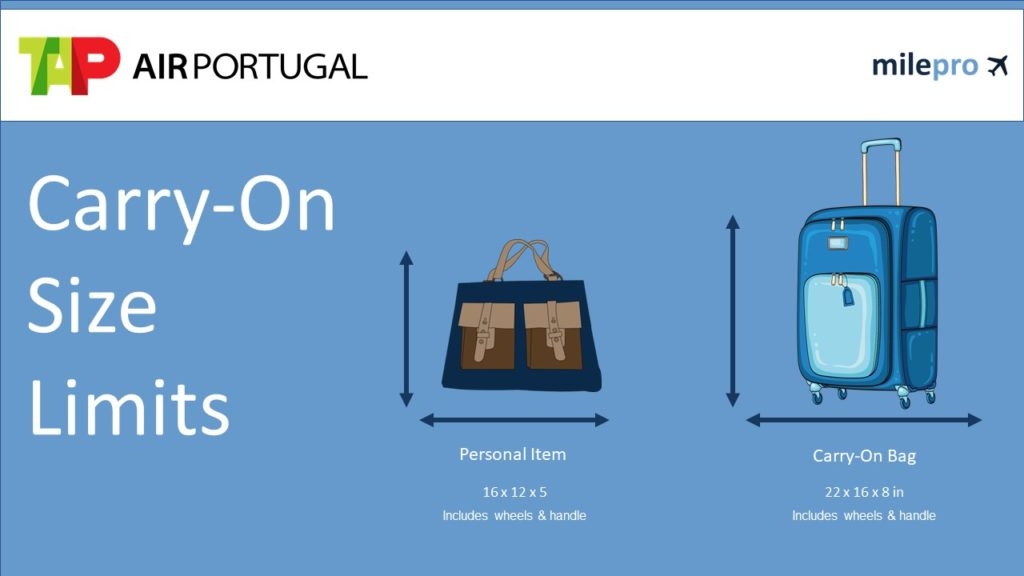 TAP Air Portugal Carry-On Size Limits