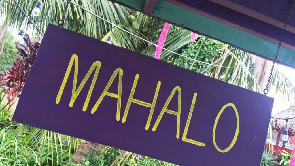 What does Mahalo Mean?