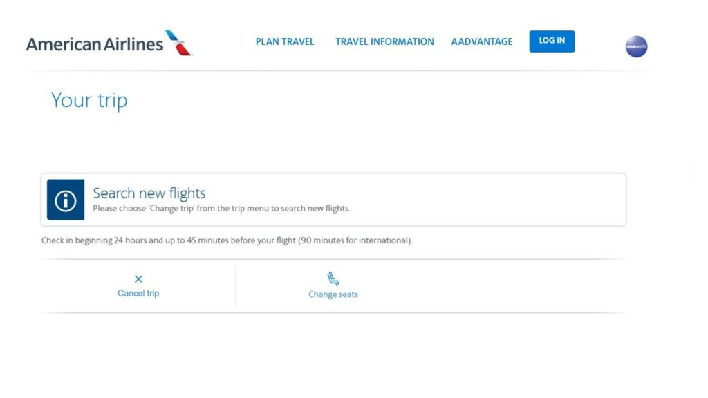 how to cancel american airlines flight